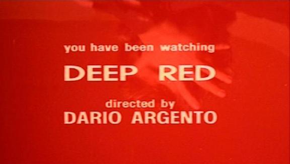 dario argento profondo rosso rojo oscuro