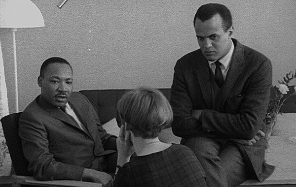 Dr King y Harry Belafonte en The Black Power Mixtape
