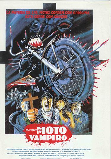 yo compre una moto vampiro poster